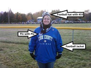 Football fan mom